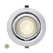 Projecteur LED Orientable Rond Dimmable 38W Gris