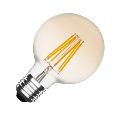 Ampoule LED E27 G95  Dimmable Filament Planet Gold 6W
