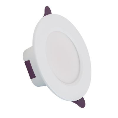 Downlight LED Rond 8W IP65 Coupe 75mm