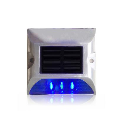 Plot Routier LED Solaire  Fixe Bleu SINGLE SIDE