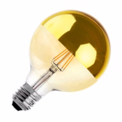 Ampoule LED E27 G125 Gold DIMMABLE FILAMENT  6W