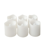 Bougies LED Blanches lot de 6