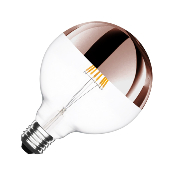 Ampoule LED E27 G125 Dimmable Filament Cooper Reflect Suprême 6W