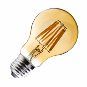 Ampoule LED E27A60 Yellow DIMMABLE FILAMENT   6W