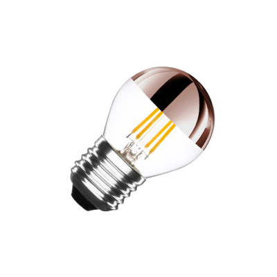 Ampoule LED E27 G45 Dimmable Filament Copper Reflect Small Classic 4W