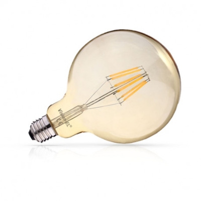 Ampoule LED E27 G125 Dimmable Filament  Gold 8W 2700K