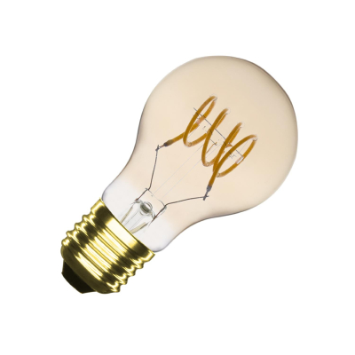 Ampoule LED E27 A60 Dimmable Filament Spirale Gold Classic 4W