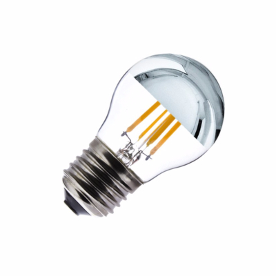 Ampoule LED E27 G45 Dimmable Filament Chrome Reflect Small Classic 3.5W