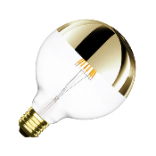 Ampoule LED E27 G125 Dimmable Filament Reflect Suprême Gold 6W