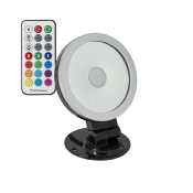 Projecteur LED RGB Orientable 360° 20W Noir