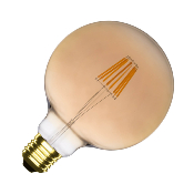 Ampoule LED E27 G125 Dimmable Filament Suprême Gold 6W