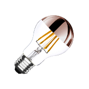 Ampoule LED E27 A60 Dimmable Filament Copper Reflect 6W