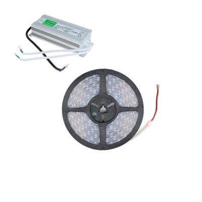 Kit Ruban LED 70W 120led/m 5m IP67 avec bloc Alimentation Etanche IP67