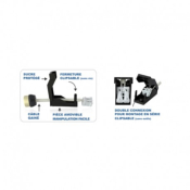 Kit Support de Spot Basse Luminance BBC Rond Blanc IP65