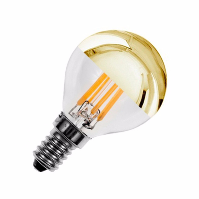 Ampoule LED E14 G45 Filament Dimmable Gold Reflect 4W