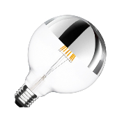 Ampoule LED E27 G125 Dimmable Filament Reflect Suprême 6W