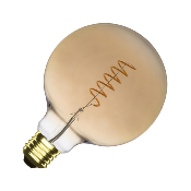 Ampoule LED E27 G125 Dimmable Filament  Spirale Gold Suprême 4W