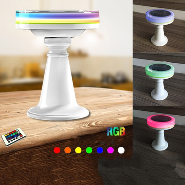 lampe de table led solaire rgb ledgam. Black Bedroom Furniture Sets. Home Design Ideas