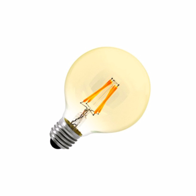 Ampoule LED E27 G80 Yellow DIMMABLE FILAMENT  6W