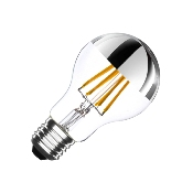 Ampoule LED E27 A60 Dimmable Filament Chrome Reflect 6W