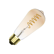 Ampoule LED E27 ST64 Dimmable Filament Spirale Gold Big Lemmon 4W
