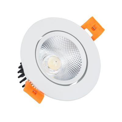 Spot LED Downlight COB Orientable Rond 9W Blanc 90mm