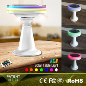 LAMPE  DE TABLE LED SOLAIRE RGB