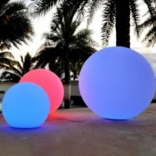 Boule LED RGBW 20cm Rechargeable